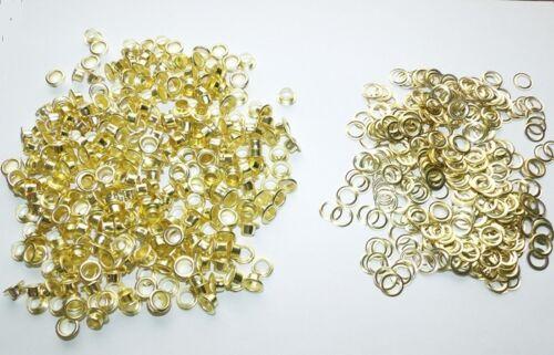 Gardinen GOLD 6mm // 10mm Zelte Leder 300 Ösen  für Textil Planen Stoff