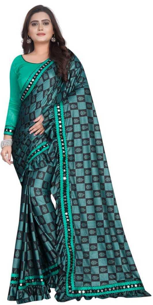 Embroidered Ikkat Silk Indian Wedding Bridal Saree & Unstiched Blouse