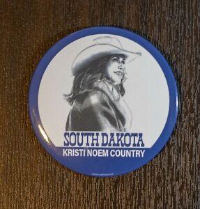 "Kristi Noem Country 3"" Pin South Dakota Governor 2022 President 2024"