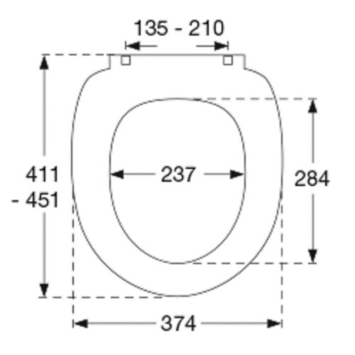 758 Lift Off Pressalit Scandinavia Plus Toilettendeckel  Sunset Nr
