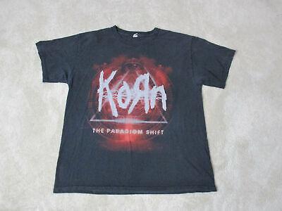 KORN LOGO Black T-shirt Men Shirt Rock Band Tee Music