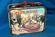 Star Wars 1977 Vintage Movie Lunchbox Lunch Box Old Thermos Metal King Seeley 77