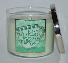 1 Bath /& Body Works WHITE MINT LATTE Large 3-Wick Filled Candle MILK CHOCOLATE