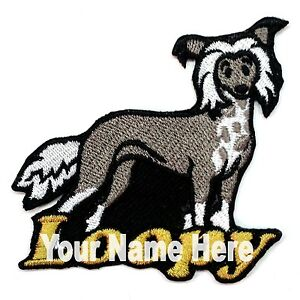 Chinese Crested Dog Custom Iron-on Patch With Name Personalized Free