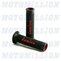 Domino Motogp Dual Compound Grips Checkered Motorsport Sportbike - Made In Italy