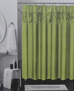 Image Is Loading Solid Color Fabric Shower Curtain 3D Design Circle