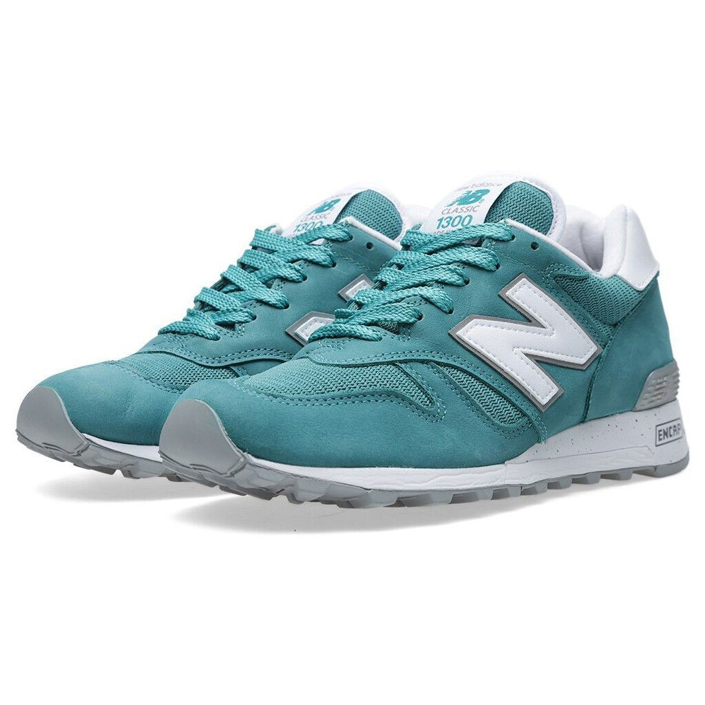 NIB New Balance Made in USA M1300NW TEAL WHITE LIMITED RETRO LIFESTYLE SNEAKERS