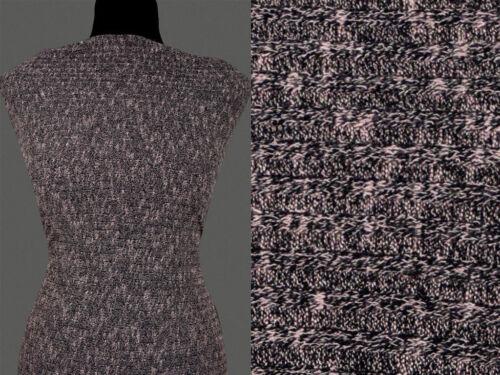 Braun Melange Muster 13,80 €//m 50cm STOFF STRICKSTOFF ELASTISCH VISKOSE