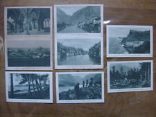 Lot 8 cartes postales Postcards de 1924 PLM Dauphine Velay Morvan Tunisie