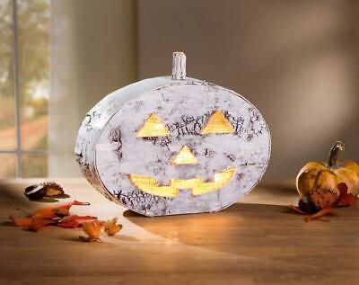 Led Kurbis Windlicht Halloween Pumkin Laterne Kerzenhalter Herbst Deko Ebay