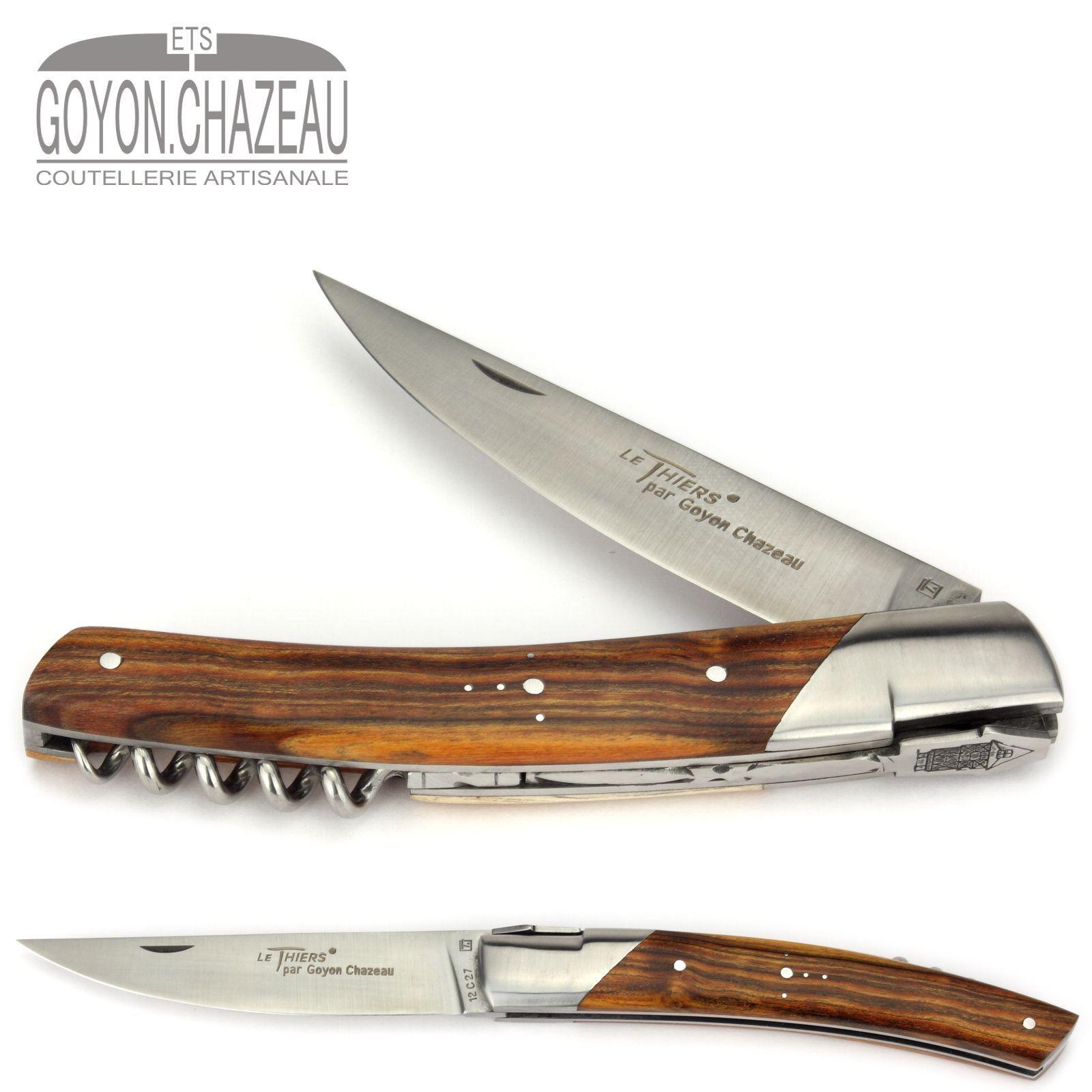 Goyon-Chazeau Le Thiers Taschen-Messer PIROU - 12 cm - Pistazie - Korkenzieher