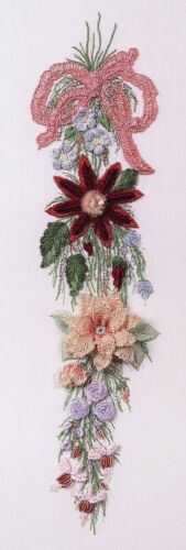 Hanging Bouquet Brazilian embroidery pattern #1607 EdMar threads//choose fabric