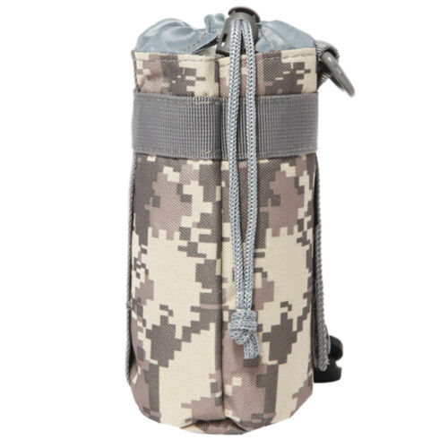 Camouflage Camo Water Bottle Carrier Insulated Cover Bag Holder Camping Outdoor