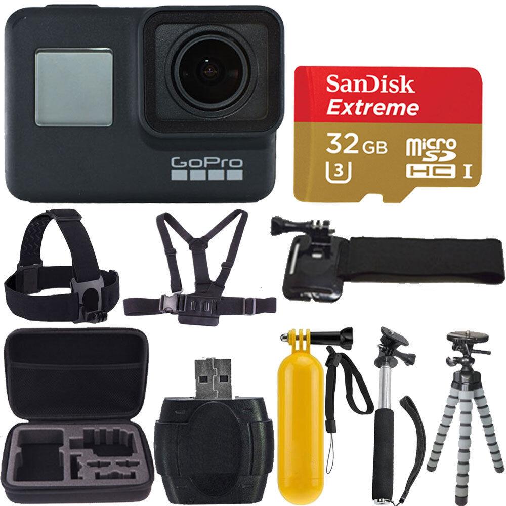GoPro HERO7 Black Waterproof Digital Action Camera 4K HD Video 12MP + 32gb Kit Featured