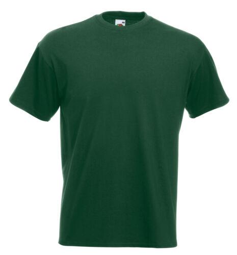 3 X Fruit Of The Loom Super Premium T SHIRT 100/% coton lourd vide tee shirts