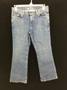 Tommy-Hilfiger-jeans-womens-low-rise-flare-Size-10-medium-wash