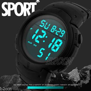 Luxury-Men-LCD-Digital-Sport-Watch-Date-amp-Day-Rubber-Army-Wrist-Watches-Waterproof