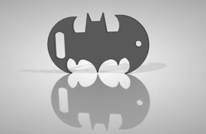 DXF file for plasma cutting Batman Logo Bottle Opener.