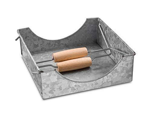 Napkin Holder Galvanized Metal Table Top Decor Rustic Country Style