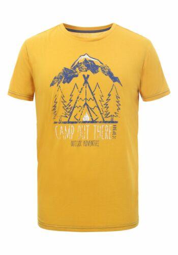 Icepeak Uomo per il tempo libero-Outdoor-escursioni a piedi-T-shirt BERKLEY GIALLO