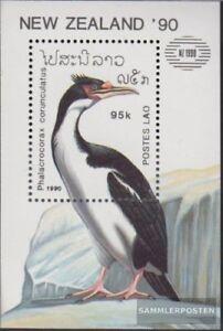 Laos-Block134-kompl-Ausg-postfrisch-1990-Voegel