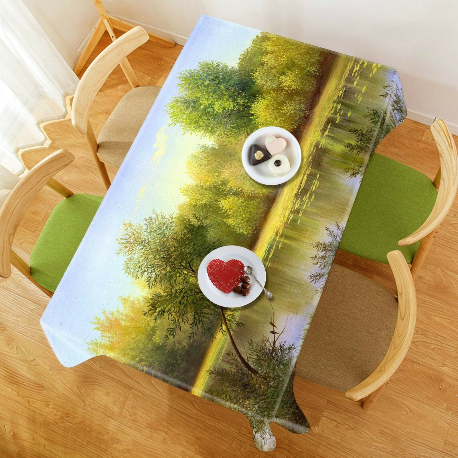 3D Natural River 061 Tablecloth Table Cover Cloth Birthday Party Event AJ Lemon