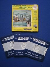 VIEW-MASTER 3 reel set - World's Fair Brussels  1958