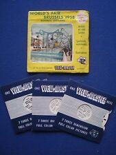 VIEW-MASTER 3 reel set - World's Fair Brussels  1958