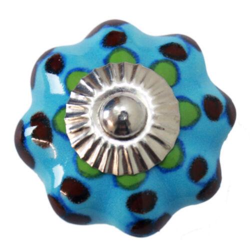 Meubles Bouton Meubles Poignée Meubles Boutons Céramique Mobilier Pommeaux Poignée Hell Bleu 94 ZW