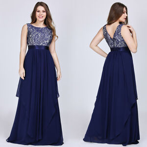 3d2b2694c79 Image is loading Ever-Pretty-Womens-Long-Bridesmaid-Dresses-Lace-Cocktail-