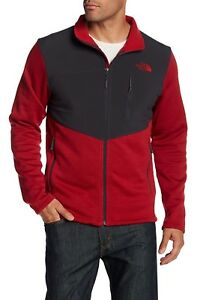 3484371f0 Details about The North Face Men's Norris Full Zip Jacket Cardinal  Red/Asphalt Grey M L XL XXL