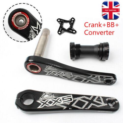 MTB Road Bike GXP Crank set Arms BB AL7075-T6 Direct Mount 170mm 4Claw Converter