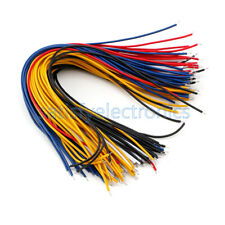 100pcs 20cm Color Flexible Two Ends Tin Plated Breadboard Jumper Cable Wires