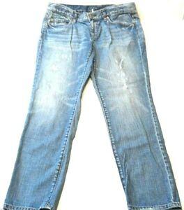 Ann-Taylor-Loft-Womens-Jeans-Size-8-Slender-Boyfriend-Distressed-Mid-Rise-Denim