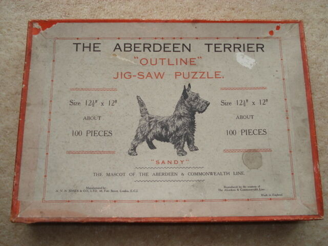 C1920S THE TERRIER  SANDY  THE MASCOT OF THE ABERDEEN&COMMONWEALTH LINE JIGSAW
