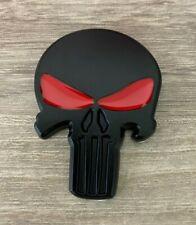 3d Car Truck Metal Punisher Emblem Sticker Skeleton Skull Decal Badge Black Usa