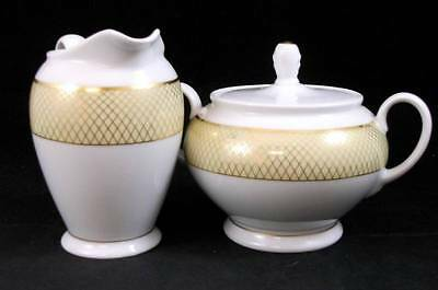 Rosenthal SIAM YELLOW Creamer & Sugar Bowl with Lid GREAT CONDITION