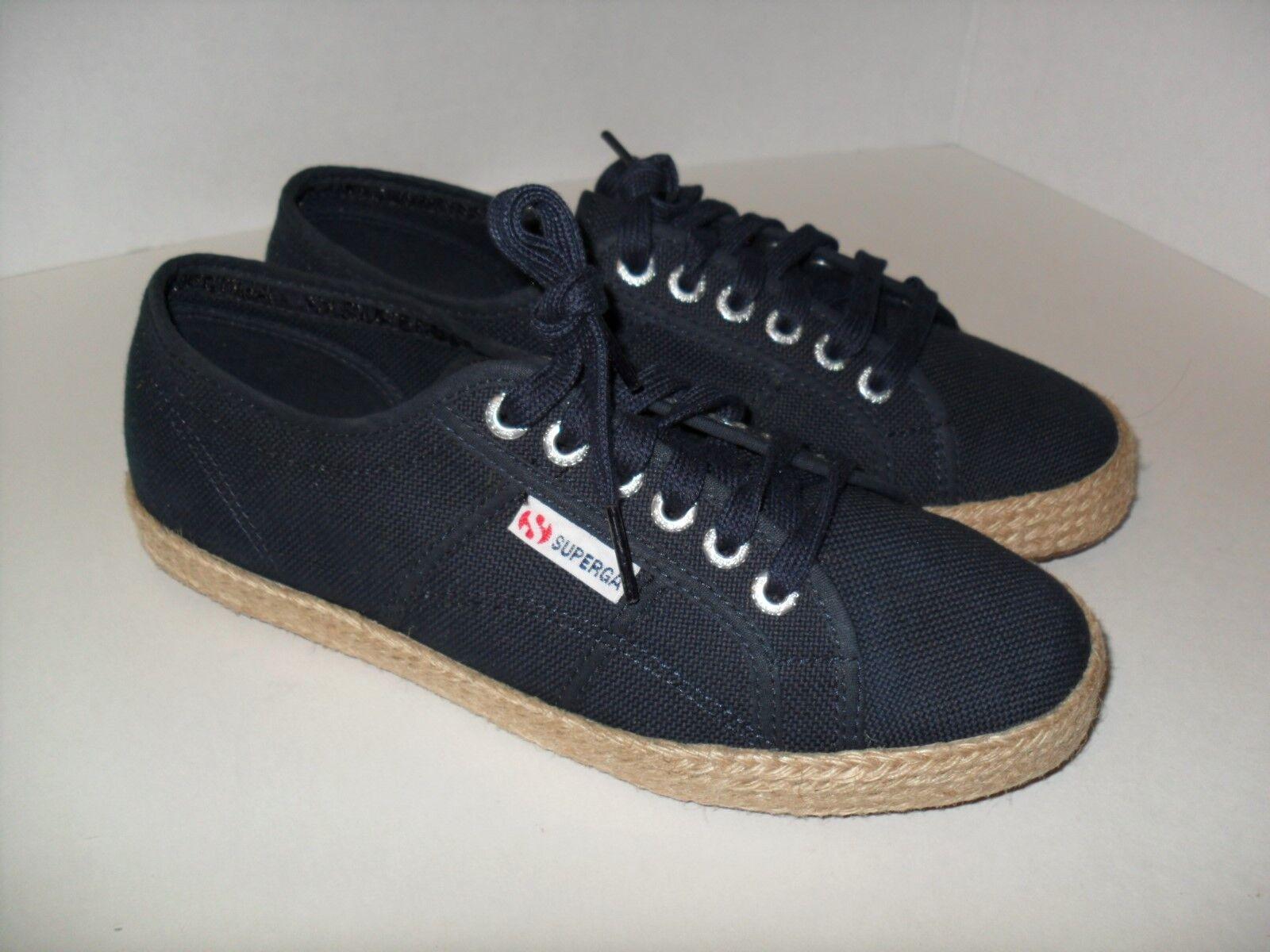 Unisex Superga 2750 Cotropeu Navy bluee US Sz Men's-7 Women's-8.5 Trainers shoes