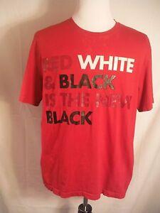 f7fbab4343a0 NIKE AIR JORDAN RED WHITE   BLACK IS THE NEW BLACK Mens Medium M Tee ...