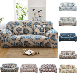 Details About 1 4 Seats Flower Sofa Couch Cover Corner Stretch Slipcover Easy Instal Strict