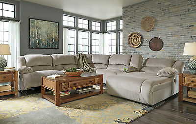 CLARA-6pcs Microfiber Power Recliner Sofa Couch Chaise Sectional Set Living Room