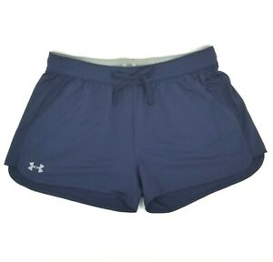 Under-Armour-Women-039-s-Size-L-HeatGear-Activewear-Running-Yoga-Shorts-Blue-NWT