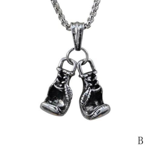Paar Boxhandschuhe Unterschrift Kette Halskette Mini Pair Boxing Anhänger Schmuc