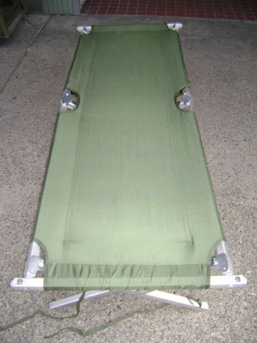 US Military Aluminum Frame Folding Cot NSN:7105-00-935-0422 NEW IN BOX