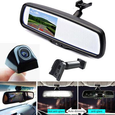 Car Reverse Backup Night Vision HDLED Camera+LCD Rearview Mirror Display Monitor