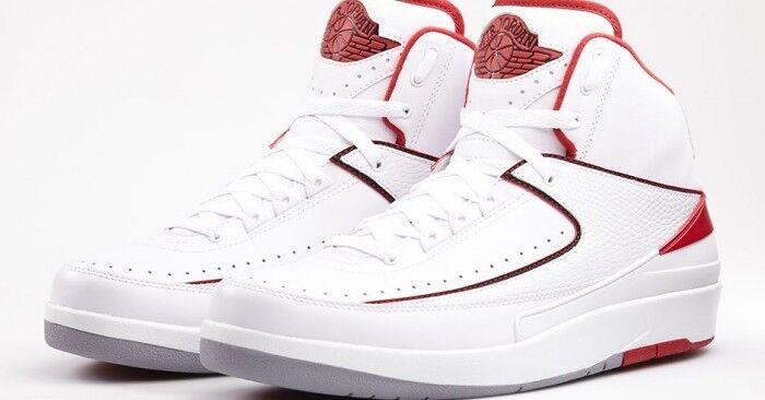 2014 - nike air jordan ii retro bianco - rosso dimensioni 385475-102 1 3 4 5 6 9