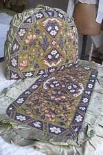 Antique Victorian beadwork tea cosy & beaded tray, Berlin woolwork embroidery
