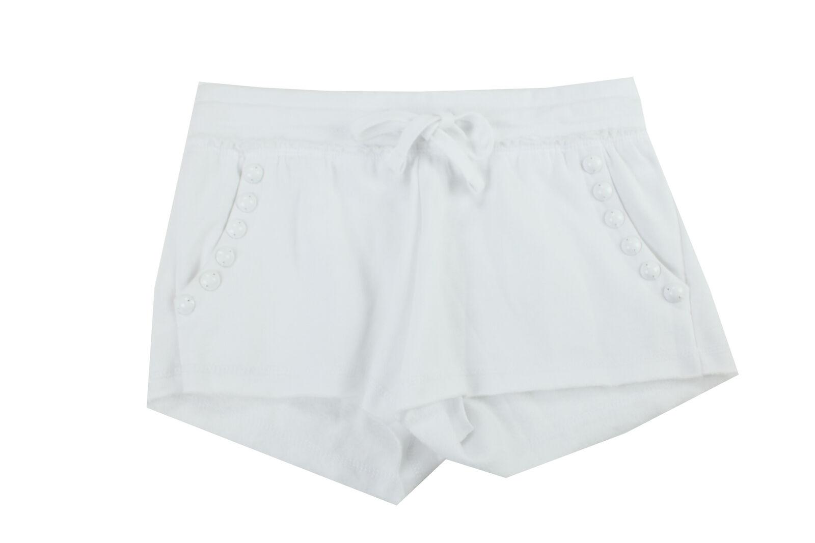 Guess Weiß Halbhoher Nieten Fleece Shorts S