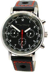 Wartburg-RS-Herrenuhr-Quarz-Chronograph-Stahl-41mm-Rallye-Leder-Uhrband-schwarz