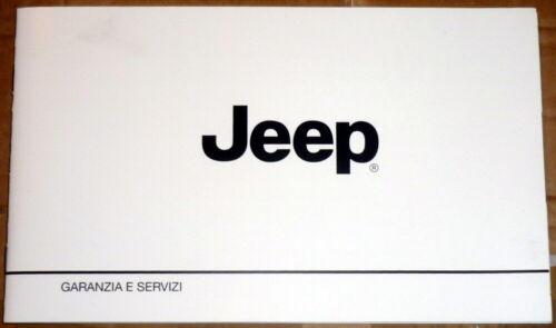Jeep RENEGADE,Jeep Compass.Libretto Garanzia e Servizi,2018//2019 ITA.NUOVO